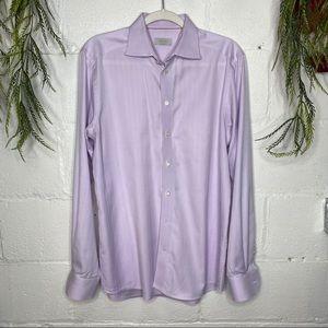 Eton Contemporary Dress Shirt Solid Lilac 16.5/42